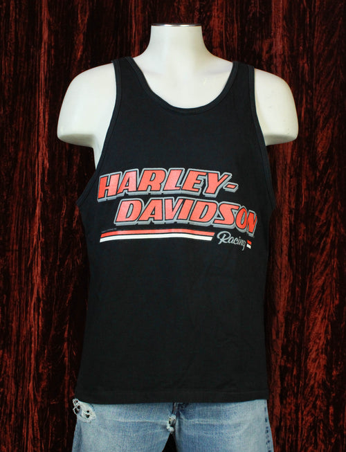 Vintage 1990 Harley Davidson Racing Tank Top - Large