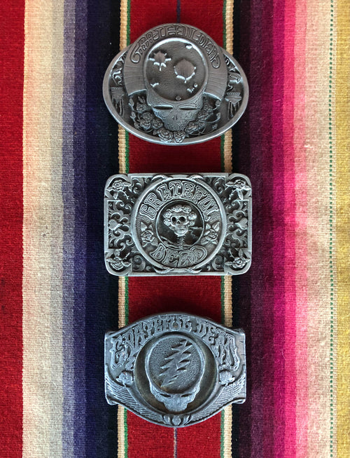 Vintage 1992 Grateful Dead Limited Edition Belt Buckle Set