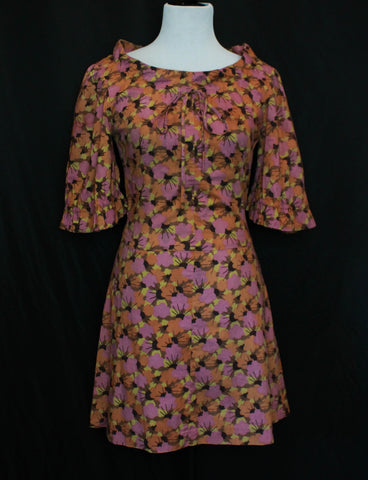 Women's Vintage 60's Blue Mod Dress Size Small