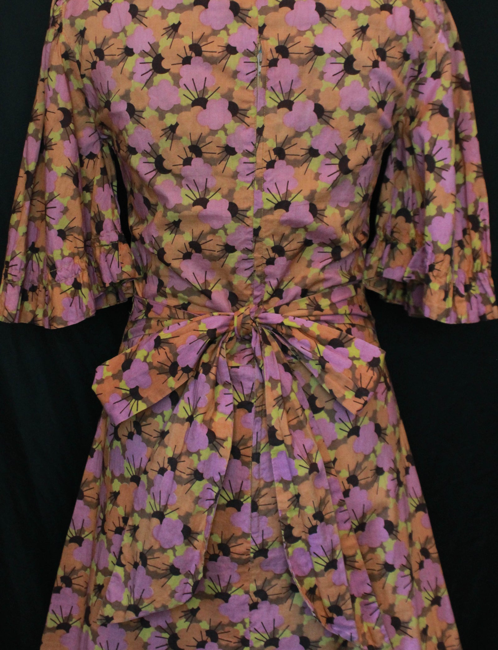 Women's Vintage 60's Biba Flower Pattern Dress - Small/Medium