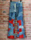 Vintage 70's Edgar Winter Custom Made Patchwork Stage Pants Unisex Size 27 W