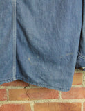 Vintage 70's Sears Denim Chore Coat Custom Chain Stitched Unisex Medium