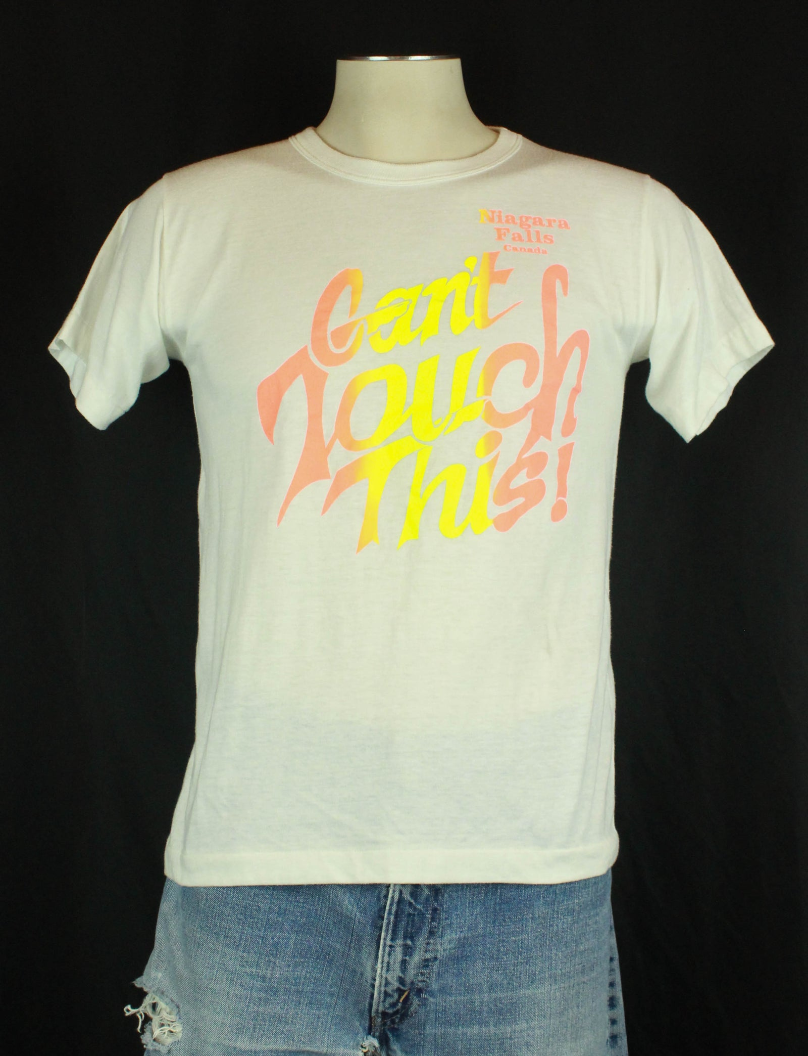 Vintage 80's Can't Touch This Niagra Falls Graphic T Shirt - Medium