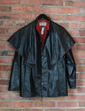 Vintage 80's Leather Jacket With Wings Unisex Medium