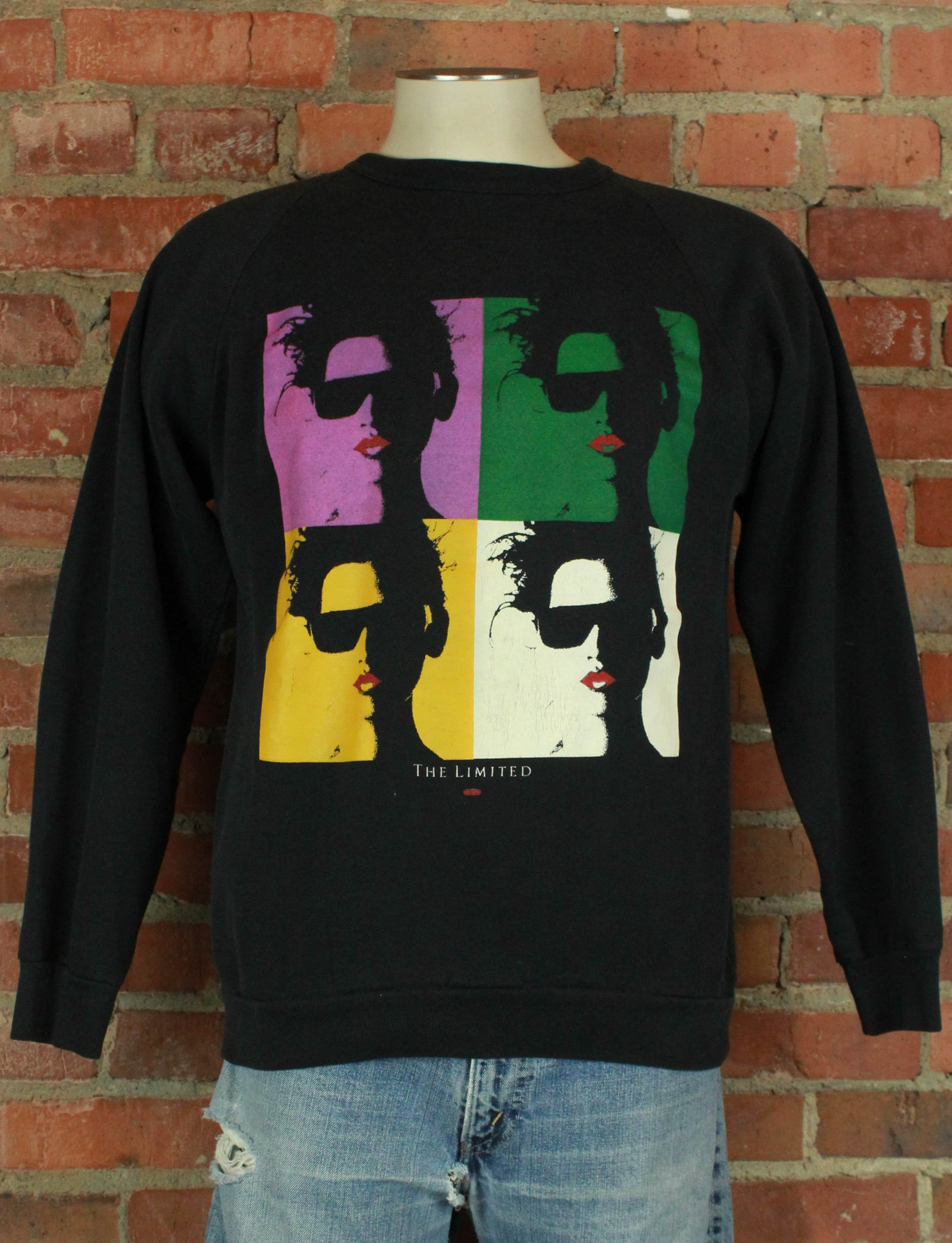 Vintage 80's The Limited Black Pullover Graphic Sweatshirt - Large