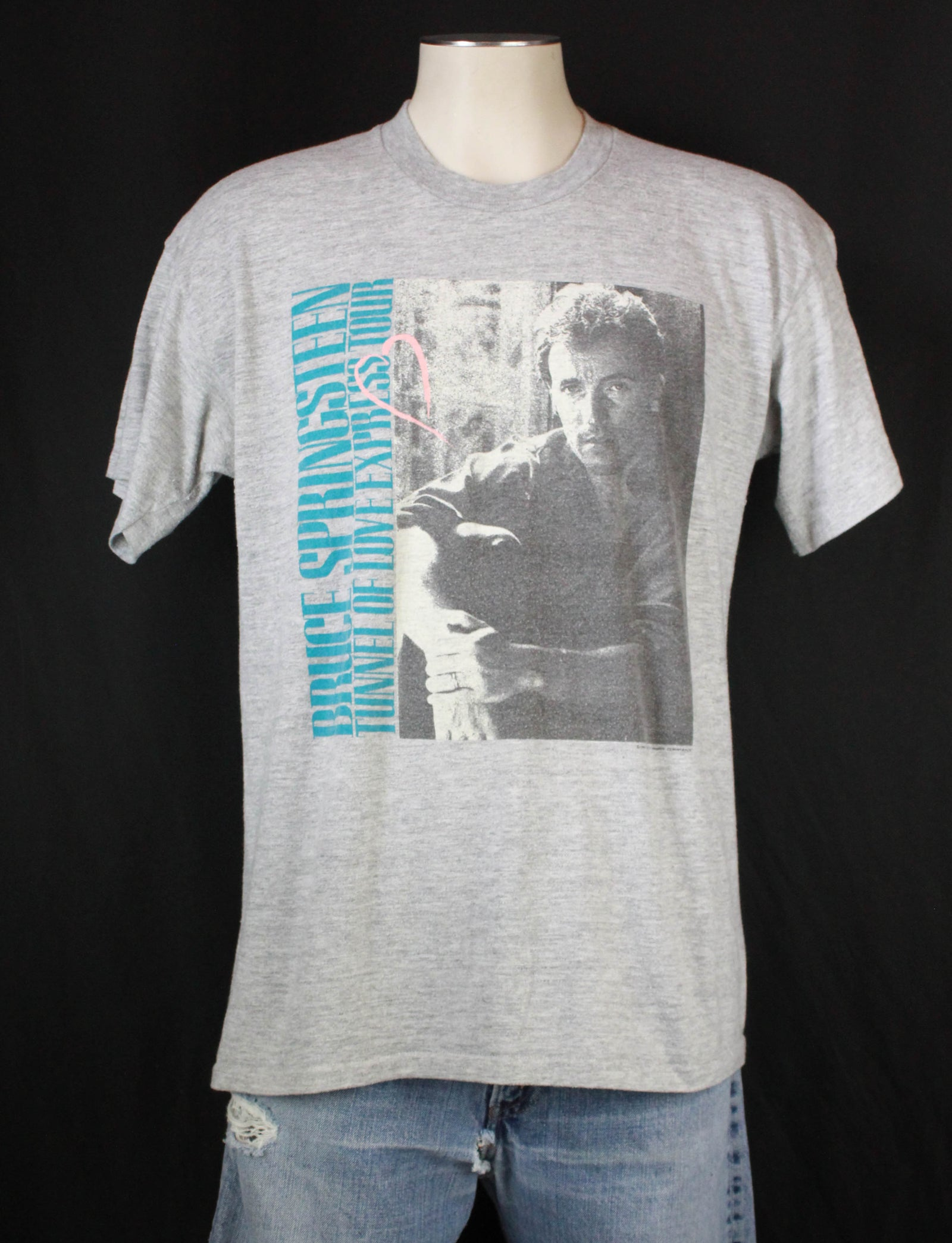 Vintage Bruce Springsteen Concert T Shirt 1988 Tunnel Of Love Express Tour - XL
