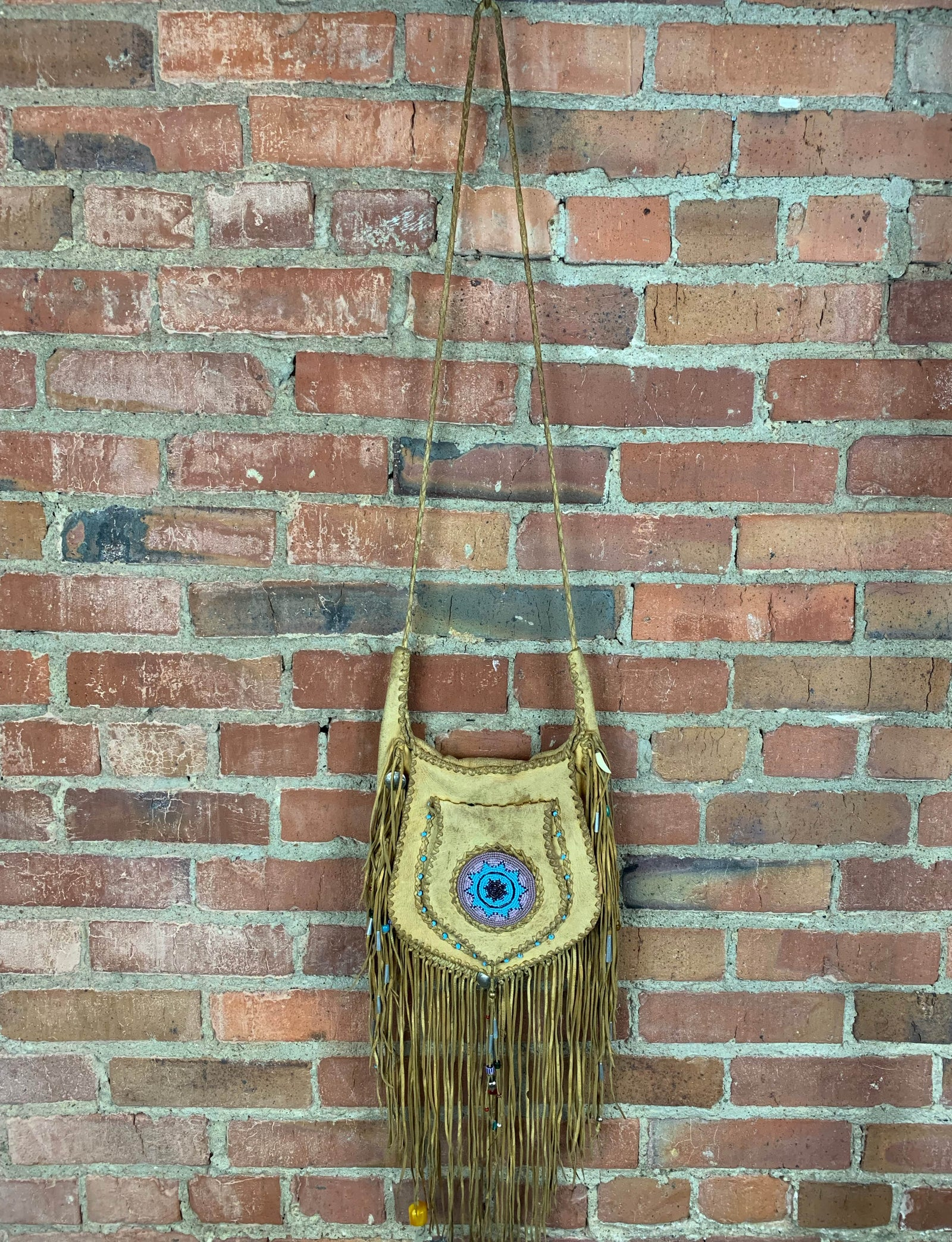 Vintage Chester Goss Custom Buckskin Crossbody Purse