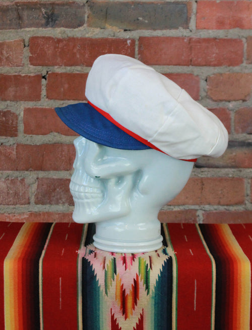 Vintage Deadstock Red White & Blue Fisherman Fiddler Cap - Size 7