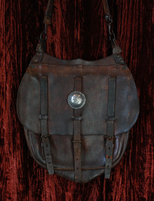Antique Late 1800's US Calvary Brown Leather Saddle Bag