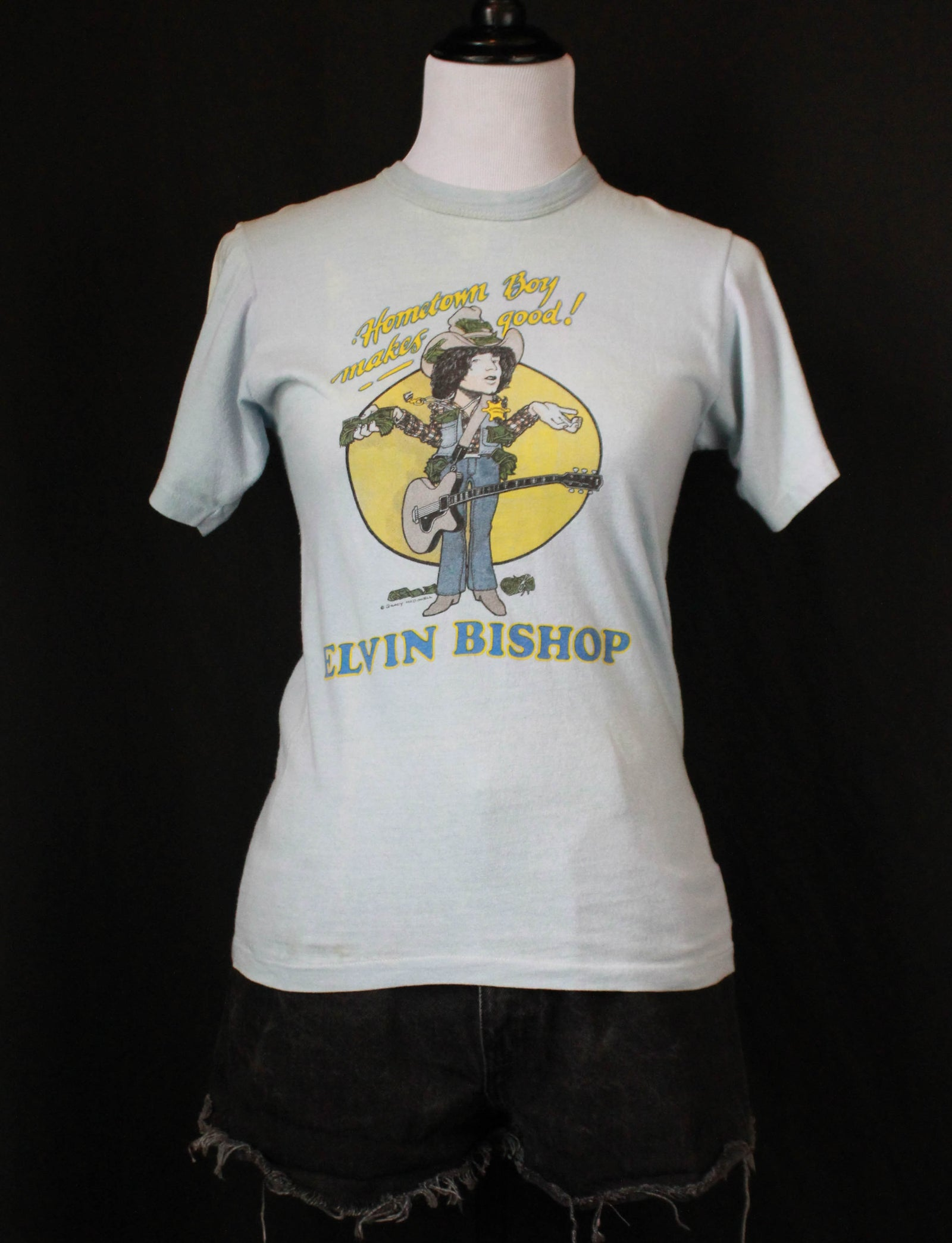 Vintage Elvin Bishop Concert T Shirt 70's Hometown Boy Makes Good - Small