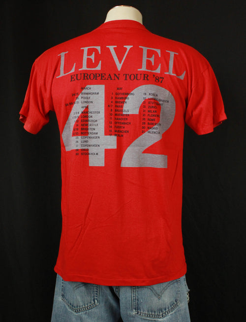 Vintage Level 42 Concert T Shirt 1987 European Tour - Large