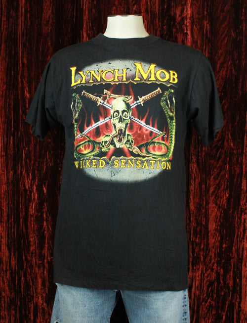 Vintage Lynch Mob Concert T Shirt 1990 Mad At The World Tour - XL