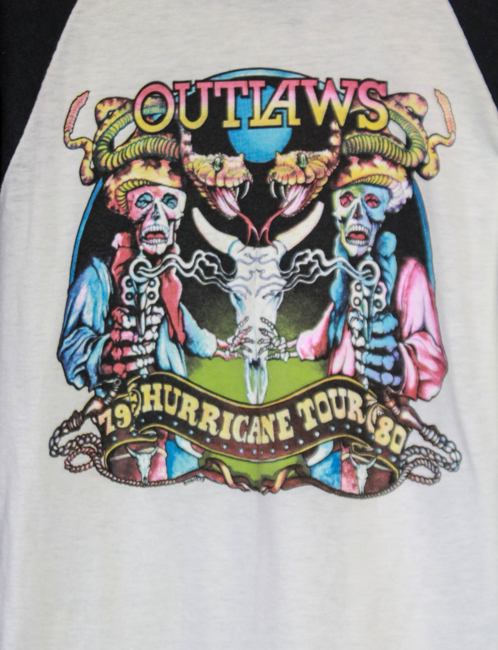 Vintage Outlaws Concert T Shirt 1979-80 Hurricane Tour Jersey Unisex Large