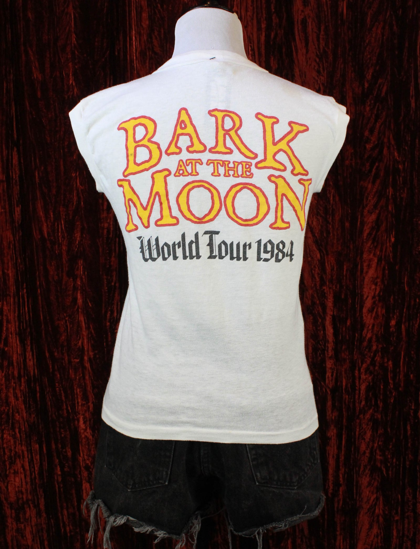 Vintage Ozzy Osbourne Concert T Shirt 1984 Ozzy Wants You Bark At The Moon World Tour Muscle Tee - Small