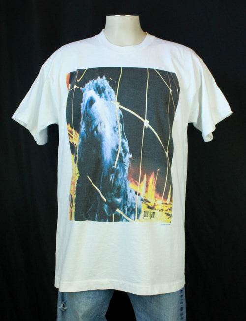 Vintage Pearl Jam Concert T Shirt 1993 Vs. Threadworm - XL