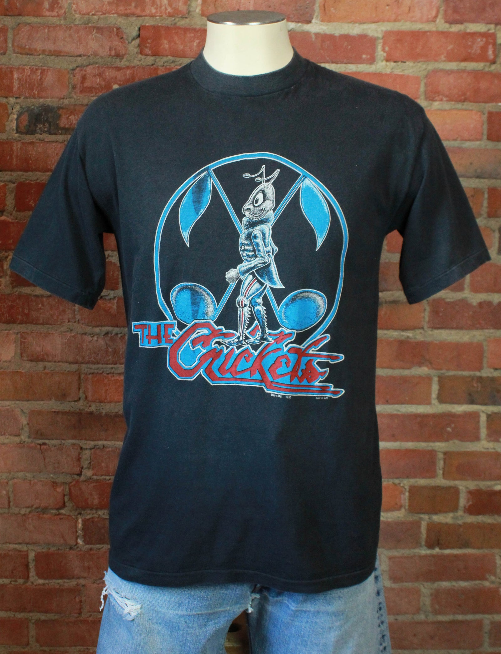 Vintage The Crickets Concert T Shirt 1982 Tour Unisex Medium