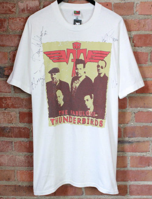 Vintage The Fabulous Thunderbirds Concert T Shirt 1996 The Roll Of The Dice Tour Signed Unisex XL