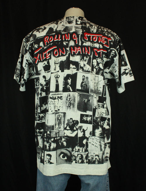 Vintage The Rolling Stones Concert T Shirt 1994 Exile On Main Street Allover Print - XL