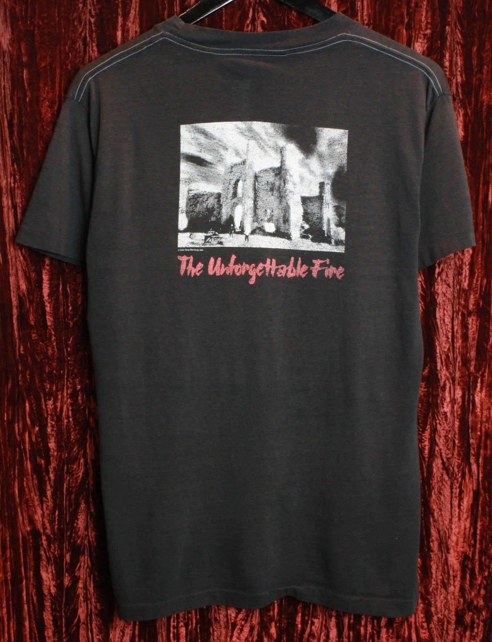 Vintage U2 Concert T Shirt 1985 The Unforgettable Fire Tour Unisex Large