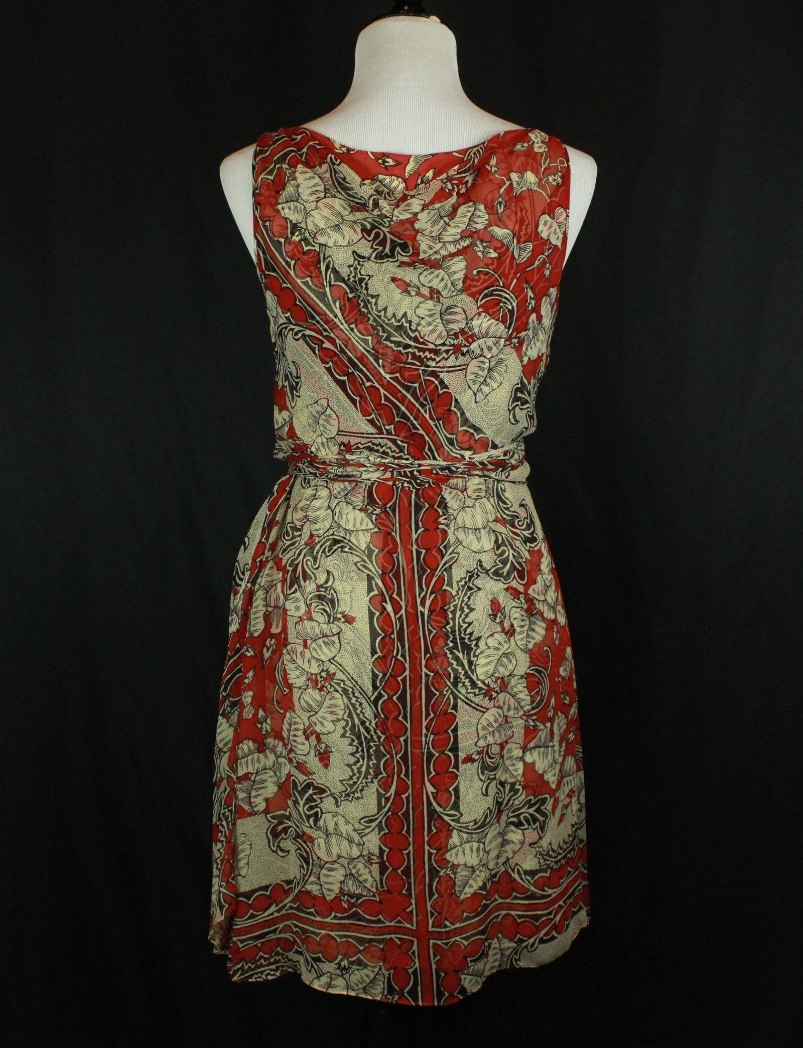 Women's Vintage 90's Gary Graham Floral Silk Wrap Dress - 4/Small