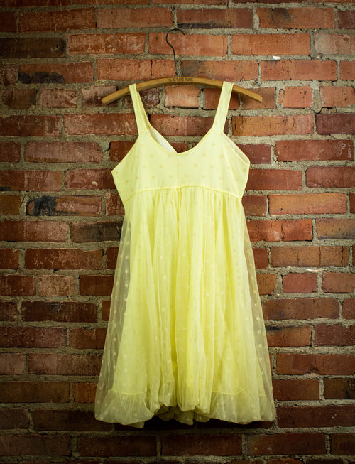 Vintage Yellow Polka Dot Sleeveless Dress 1950's