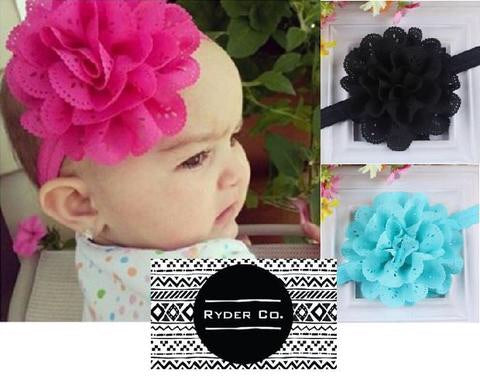 Baby Lace Flower Headbands