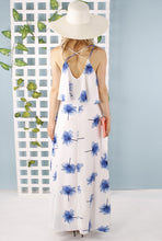 Lucy Printed Cross Over Maxi Dress