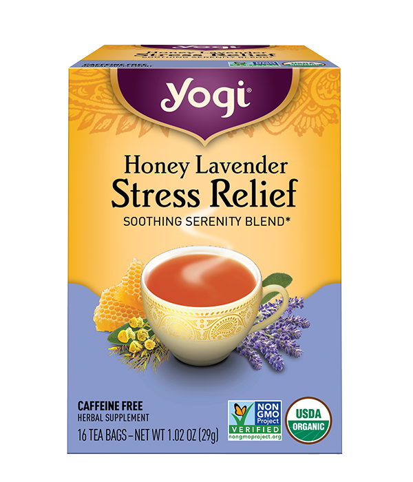 Honey Lavender Stress Relief, Lavanda Stress, 16 sobres