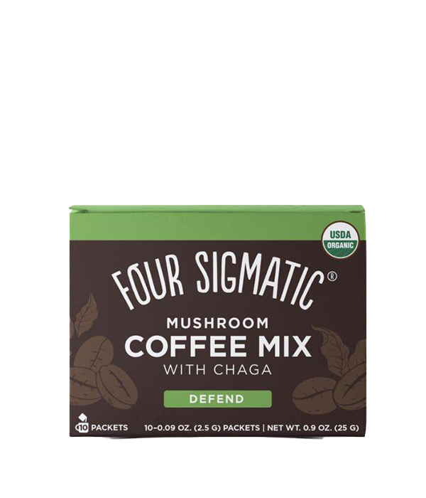 Mushroom Coffee Mix DEFEND w/ Chaga, Cafe Instantaneo, caja c/ 10 sobres, 25 g