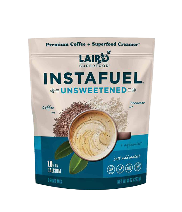 Instafuel Unsweetened - Cafe Instantaneo sin endulzar con aceites MCT, 227g