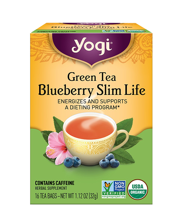 Green Tea Blueberry Slim Life, Te Verde Mora Slim, 16 sobres