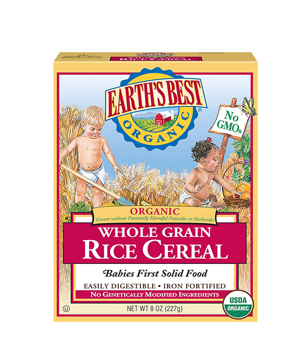 Earth's Best, Cereal de Arroz Moreno,  227g