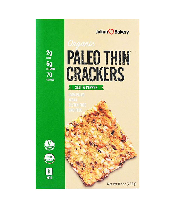 Paleo Thin Crackers, Salt & Pepper - Tostadas, 238 g