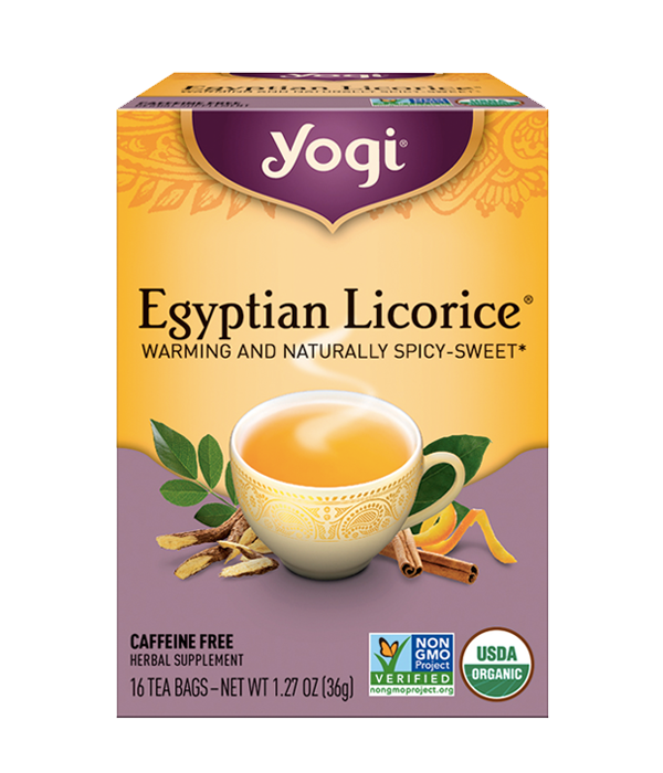 Yogi Tea, Egyptian Licorice - Té Orgánico Regaliz y Canela, 16 sobres