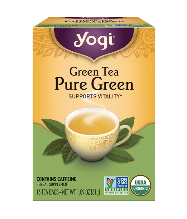 Green Tea Pure Green - Té Orgánico Verde, 16 sobres
