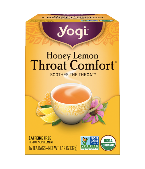 Honey Lemon Throat Comfort - Té Orgánico Limón y Miel, 16 sobres