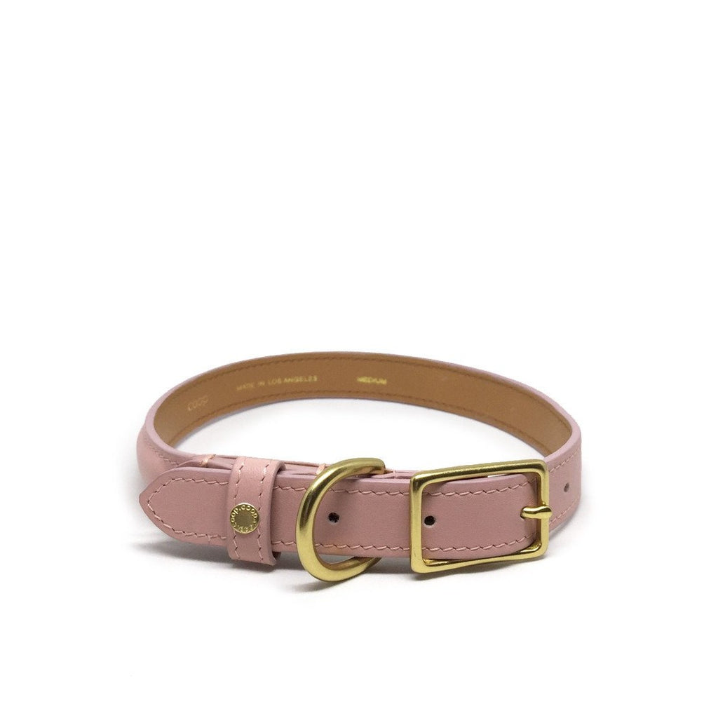 Minimal leather Dog collar