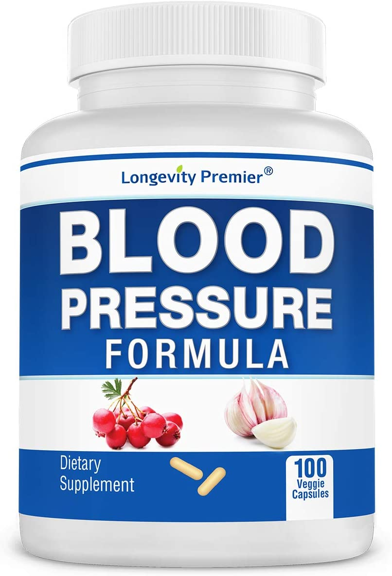 Longevity Blood Pressure Formula [100 Capsules]: Herbal supplement for blood pressure. Natural way to maintain blood pressure health.