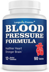 Longevity Blood Pressure Formula [90 tablets]: Blood Pressure Supplement with natural herbs traditionally used for blood pressure.