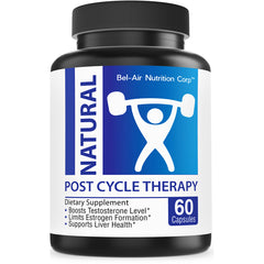 Natural PCT (post cycle therapy): Testosterone booster with estrogen blocker. Boost muscle growth. Supports liver performance with milk thistle and N-Acetyl-L-Cysteine.