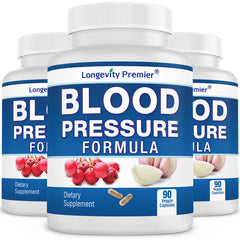 [3-Bottle Value Pack] Longevity Blood Pressure Formula (90 caps x 3 bottles)