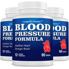 [3-Bottle Value Pack] Longevity Blood Pressure Formula [90 tablets]