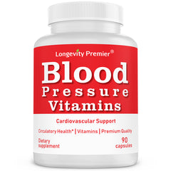 Blood Pressure Vitamin: Supports blood pressure, heart and brain health with hawthorne, garlic, olive Leaf, hibiscus, buchu, uva Ursi...