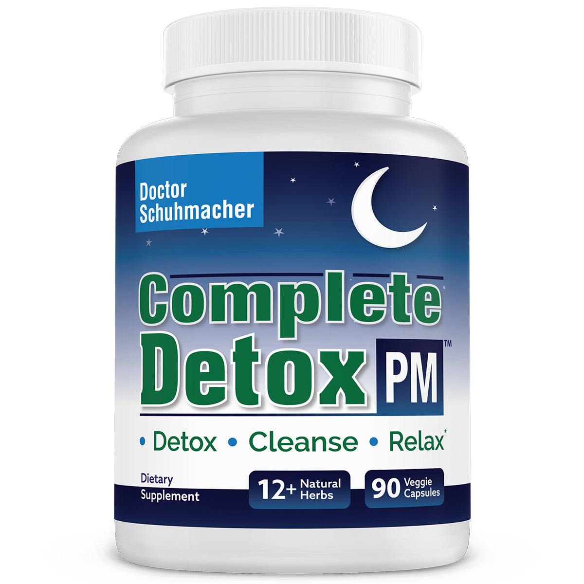 Longevity Complete Detox PM: Gentle whole body detox with support for liver, colon, lymph, kidney and deep relaxation. Best detox supplement.
