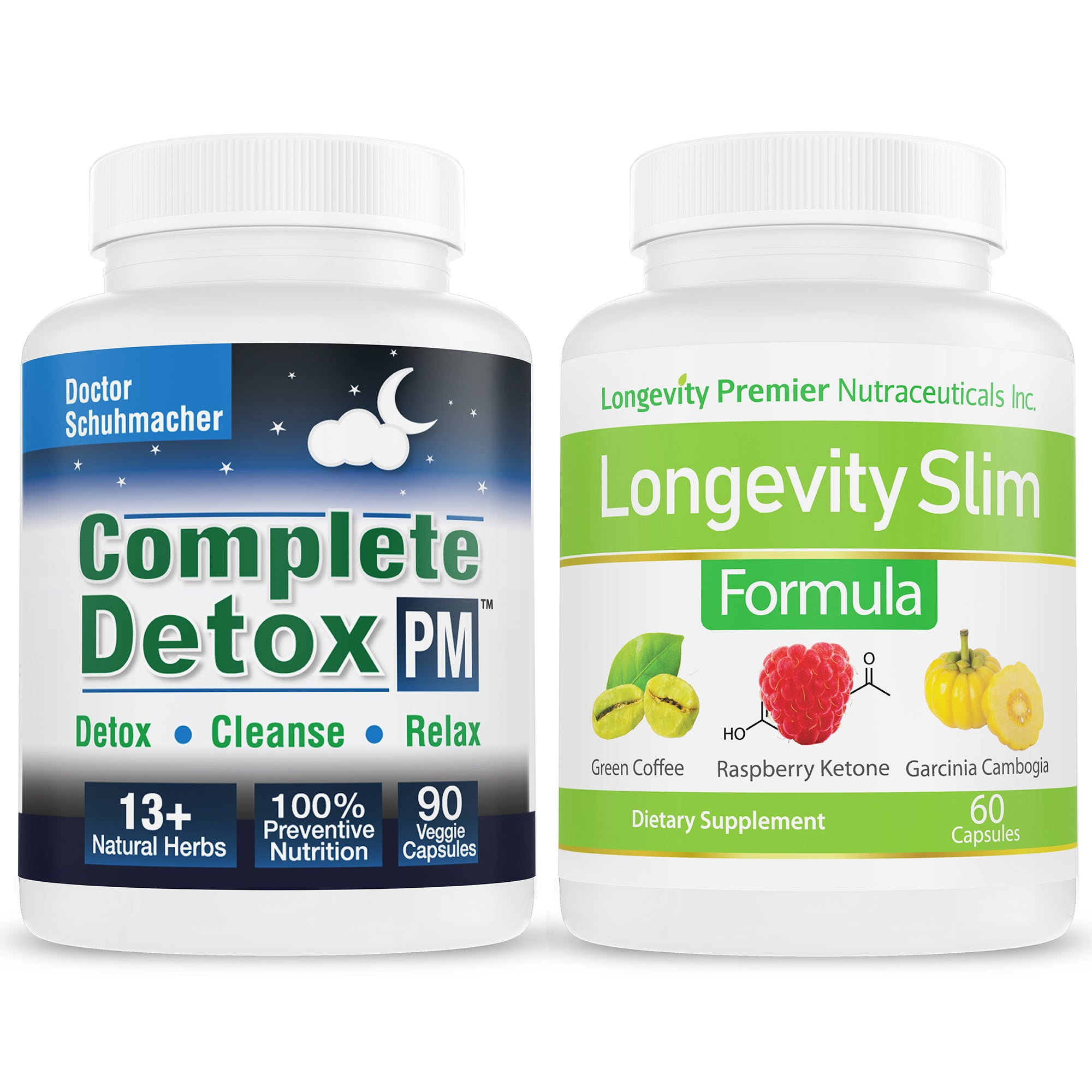 Longevity Complete Detox PM + Longevity Slim Formula Value Pack