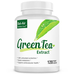 Green Tea Extract Supplement: EGCG, catechins & polyphenols. Antioxidants to support heart health, immune functions and metabolism booster. Supports weight loss.