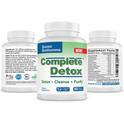 Longevity Complete Detox: Gentle whole body cleanse and detox supplement. Liver,, kidney, and brain detox. Supports mental clarity.
