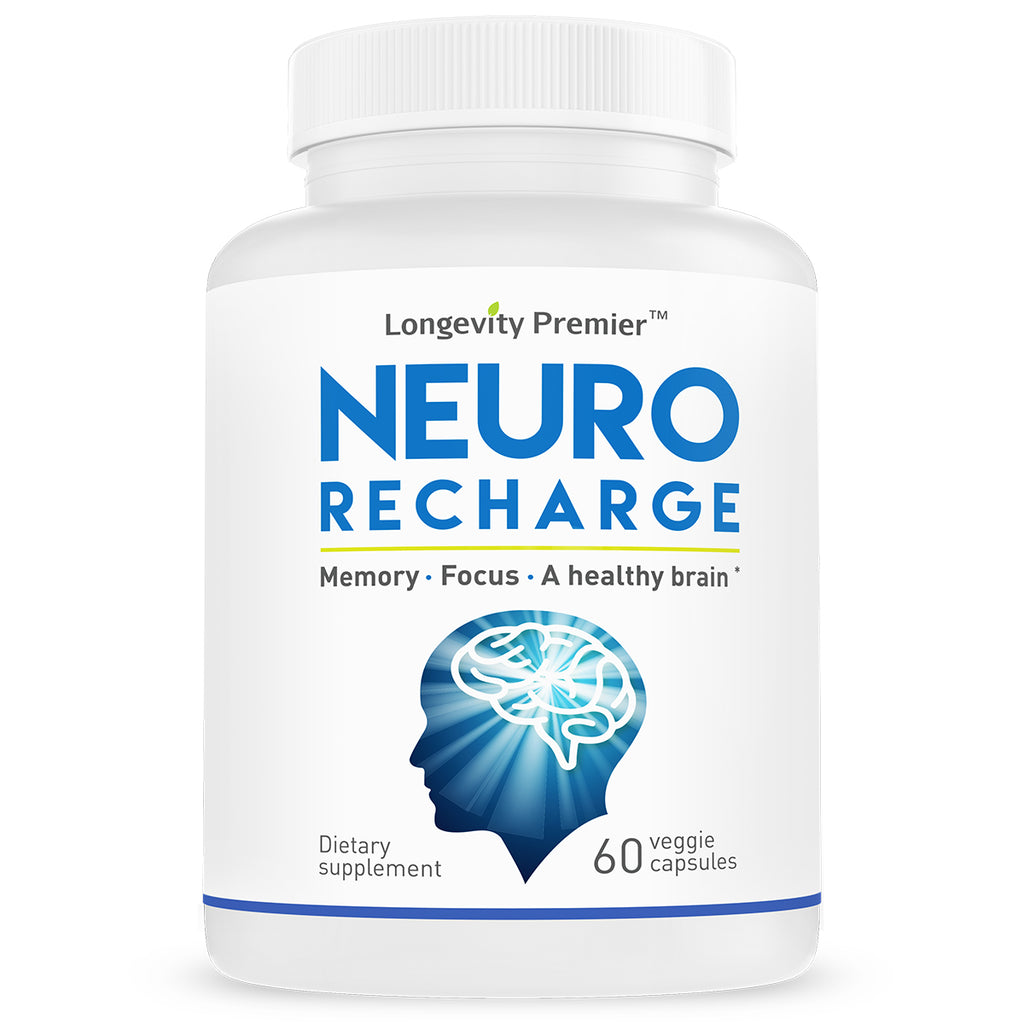 Neuro Recharge - Enhances cognitive & neural functions with 13+ herbal ingredients - Defy brain aging