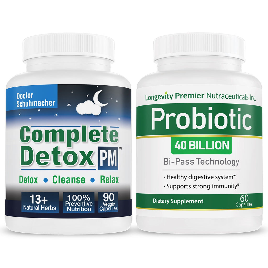 Complete Detox PM + Longevity Probiotic Value Pack - Longevity Premier Nutraceuticals Inc