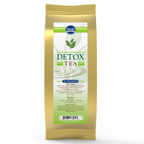 Longevity Detox Herbal Tea, teabags, 30 count package - Longevity Premier Nutraceuticals Inc